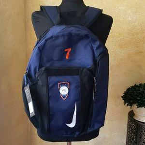 Nike Navy Soccer Ball Carry Backpack #7 Futbol